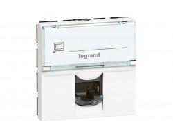 MOSAIC RJ45 UTP кат6 2мод бел Legrand