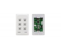 Внешняя панель управления с 6 кнопками для устройств с шиной K-NET, сенсорные кнопки Kramer RC-43T/US(W)
