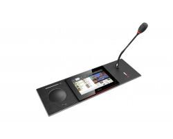 Врезной пульт конференц-системы с сенсорным экраном Televic UniCOS F/MM